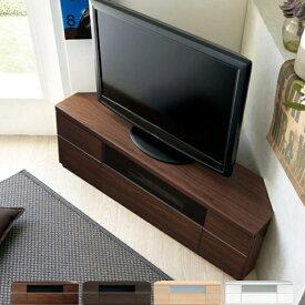 薄型 コーナー テレビ台 120センチ幅 奥行35.4cm 50V型対応 SG-1200-K【完成品】【日本製】