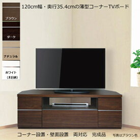 薄型 コーナー テレビ台 120センチ幅 50V型対応 SG-120 【完成品】【日本製】