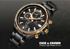 【送料無料・税込み】Naviforce TB-81191802 腕時計 お洒落 日本製クオーツ メンズ 重厚 高級 クール 流行 カレンダー Quartz