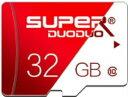 【送料無料・税込み】Micro SD SUPER DUODUO 32GB マイクロ SD card class 10 クラス UHS 1 激安 爆速 3年保証