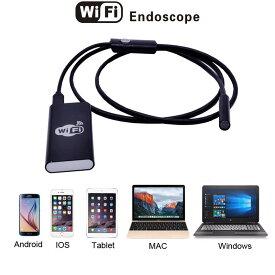 【送料無料・税込み】Wi-Fi タイプ 防水 スコープ カメラ i-Phone Android PC エンドスコープ 高画質 写真 録画 アプリ 簡単 操作