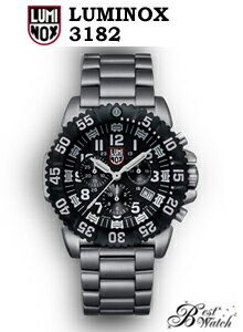 ルミノックス LUMINOX 腕時計 ネイビーシールズ 3182【激安送料無料SALE中/1年保証付/T25表記】LUMINOX スティール カラーマーク クロノグラフ 3180 シリーズSTEEL COLORMARK CHRONOGRAPH人気ミリタリーウォッチ 最安値に挑戦