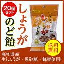 【送料無料】しょうがのど飴 20個セット 生姜 しょうが はちみつ 黒砂糖 のどにやさしい