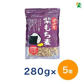 【10%OFFクーポン有】 ベストアメニティ 国内産100%紫もち麦 280g×5個 国産 ポリフェノール アントシアニジン 水溶性 食物繊維 大麦 βグルカン ダイエットもちむぎ 送料無料