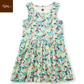 86ff63d72cd7a Tea Collection ベビードレス Daintree Tank Dress 花柄 蝶 ピンク 春夏 海外 キッズ 子供