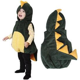 送料無料 コスチューム マシュマロダイナソー ハロウィン 衣装 子供 恐竜 男の子 赤ちゃん 可愛い かっこいい パーティー 仮装 コスプレ 着ぐるみ ベビー キッズ パーティ 簡単 着るだけ かわいい 1歳 2歳 80cm 90cm クリスマス きょうりゅう 怪獣 コス かいじゅう