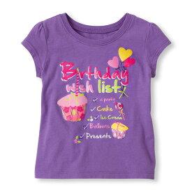 チルドレンズプレイス Birthday Girl 誕生日 半袖 Tシャツ 紫 女の子 キッズ 子供 シャツ ベビー 子供服 夏服 夏 春 バースデーシャツ 1歳 2歳 インポート カジュアル 誕生祝 海外 ブランド おしゃれ かわいい 赤ちゃん お祝い バースディ バースデー THE CHILDREN'S PLACE