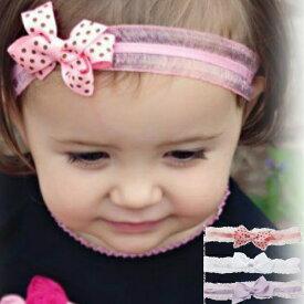 【メール便可】 マンディ ベビーヘアバンド3本セット カチューシャ ★ ラベンダー&ピンクドット&ホワイトリボン ヘアアクセサリー Sweet Mandy キッズ ベビー 子供 赤ちゃん 女の子 おしゃれ アメリカ発 結婚式 七五三 滑り止め付き 可愛い ヘアアクセ 髪留め