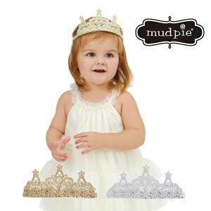 Mud pie クラウン ティアラ ヘッドバンド カチューシャ ヘアバンド crown シルバー ヘアアクセ 子供服 インポート プリンセス イベント ベビー キッズ 子供 ヘアバンド 赤ちゃん 1歳 2歳 女の子