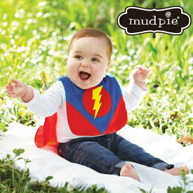 【メール便可】 Mud Pie スーパーヒーロービブ 1歳 2歳 子供 男の子 スタイ キッズ 新生児 ヒーロー スーパーマン バッドマン ベビー 赤ちゃん ビブ よだれかけ ハロウィン 仮装 コスチューム パーティ 簡単 SUPER HERO BIB マッドパイ 子供服 男 80 90