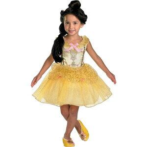 ベル 美女と野獣 ディズニー Disney バレリーナ コスチューム ワンピース ハロウィン 衣装 子供 仮装 コスプレ 子供用 ドレス キッズ 3-4T ディズニープリンセス ディズニー 3歳 4歳 100cm 110cm か