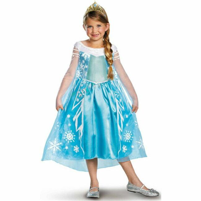 エルサ ドレス アナと雪の女王 ディズニー ◆ Disney ロング コスチューム ワンピース 仮装 コスプレ キッズ 子供 ディズニープリンセス ドレス なりきり 女の子 おでかけ 発表会 ハロウィン クリスマス パーティ 3歳 4歳 5歳 6歳 クリスマス コスチューム 衣装