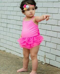 Ruffle Butts ホットピンク ワンピース 水着 子供 女の子 フリル チュチュ ビキニ 80cm 90cm 子供服 夏休み フリフリ ラッフルバッツ ピンク かわいい おしゃれ ブランド 海外 旅行 プール 夏 ピンク