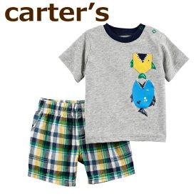 【送料無料】【2019新作】カーターズ セット 半袖Tシャツ+半ズボン3点セット☆さかな☆男の子