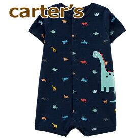 【送料無料】【2020新作】カーターズ 正規品 前開き ロンパース☆ネイビー恐竜☆男の子