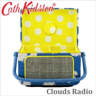 카스 키드 손 정규품 재봉상자 바느질 바스켓 바느질 박스 라디오 재봉상자 Cath Kidston Clouds Radio Sewing Basket