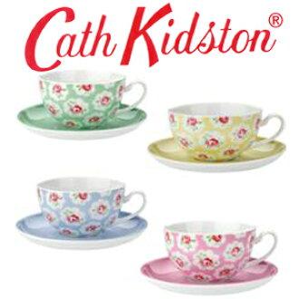 카스 키드 손 정규품 프로방스무늬 4색티캅 4객 세트, 식기, Cath Kidston , Provence Rose Cup and Saucer