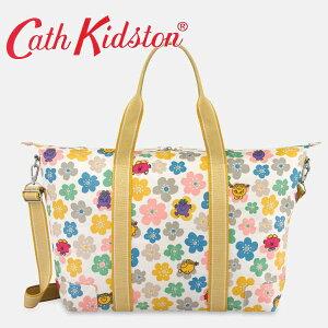 本州送料無料/Cath kidston キャスキッドソン 正規品 ショッパーバック ボストンバック ポーチ付 マザーズバック 3WAY Little Miss Flowers Foldaway Overnight Bag