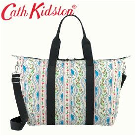 【本州送料無料】Cath kidston キャスキッドソン 正規品 ショッパーバック ボストンバック ポーチ付 マザーズバック 3WAY Shopper Fold Away