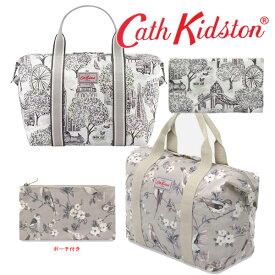 【本州送料無料】Cath kidston キャスキッドソン 正規品 ショッパーバック ボストンバック ポーチ付 マザーズバック