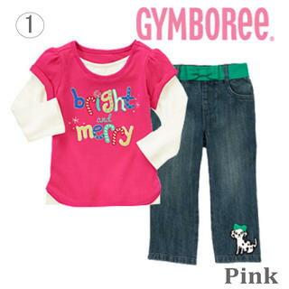 【送料無料】GYMBOREE ジンボリー セット Tシャツ+ジーンズのお買得2点セット 出産祝い カーターズ外商品,女の子