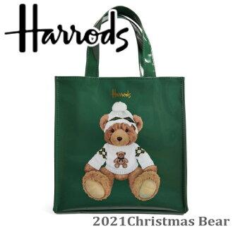 HARRODS哈洛慈正规的物品大手提包Christmas Bear,M尺寸A4文件,Harrods Medium圣诞节