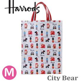 【本州送料無料】HARRODS ハロッズ 正規品,裏地付き,トートバッグ City Bear Medium Shopper Bag,Mサイズ
