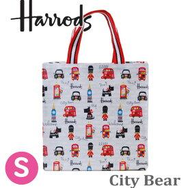 【送料無料】HARRODS ハロッズ 正規品 裏地付き トートバッグ City Bear Small Shopper Bag,Sサイズ