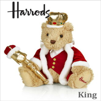 HARRODS Harrods genuine Teddy bear King Crown King Harrods King Teddy Bear
