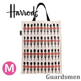 【本州送料無料】【2019新作】HARRODS ハロッズ 正規品 裏地付 トートバッグ Guardsmen Shopper Bag Mサイズ,Medium A4