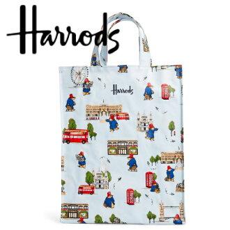 HARRODS 해로즈 정규품 토트 백 S사이즈, M사이즈 베어, Harrods Sweet Pea Bear, 쇼핑 가방