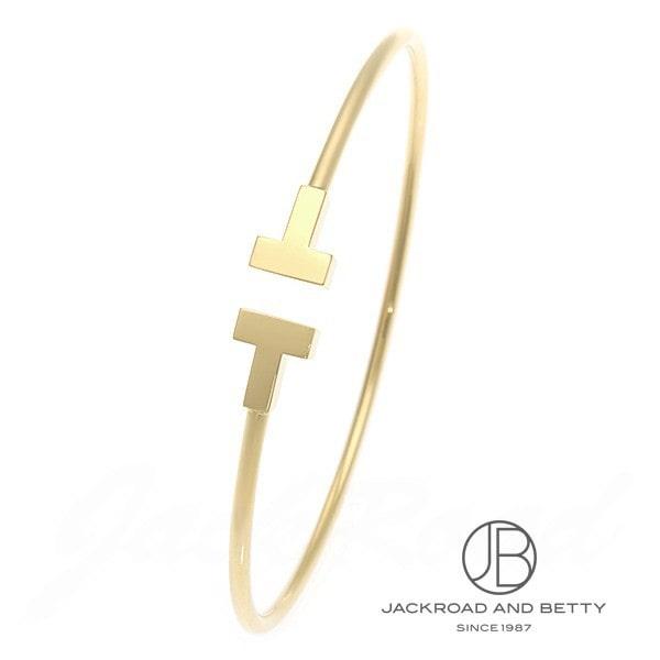 ティファニー TIFFANY&Co. T ナロー ワイヤー ブレスレット S イエローゴールド 33419082 新品 ジュエリー ブランドジュエリー
