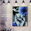 【ポイントアップ9月4日から】アートパネル モダン おしゃれ モノクロ 玄関 モノトーン 60×80 水晶絵 人物 女性 壁掛けパネル 絵 アー…