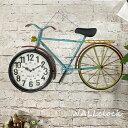 時計 壁掛け時計 自転車 シンプル おしゃれ かわいい レトロ アナログ カラフル モダン 大型 アイアン 見やすい インテリア雑貨 贈り物…