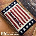 フロアマット 80×50 おしゃれ アメリカ国旗 玄関 リビング キッチン 厚手 インテリア雑貨 アメリカン雑貨 長方形 滑り止め付き