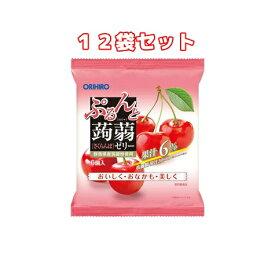 (12袋セット)オリヒロ ぷるんと蒟蒻ゼリー パウチ さくらんぼ(6コ入×12袋)