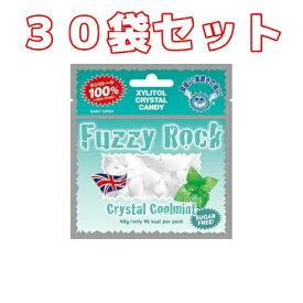 (30袋セット)Fuzzy Rock(ファジーロック) キシリトールキャンディー クールミント味(40g)×30袋
