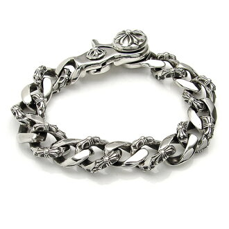 Chrome hearts fancy link bracelet and clip