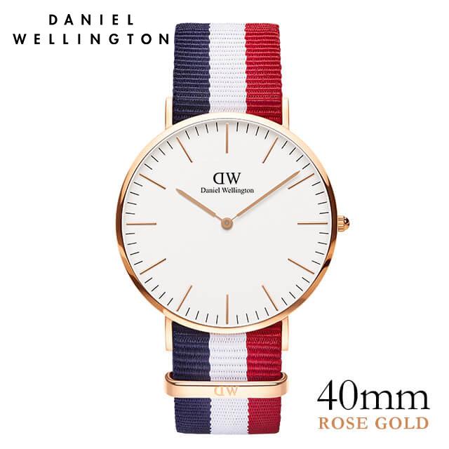 ダニエルウェリントン 40mm Daniel Wellington ケンブリッジ ローズ メンズ 腕時計