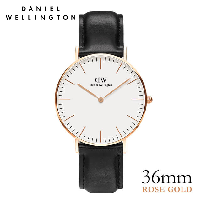 ダニエルウェリントン 36mm Daniel Wellington シェフィールド ローズ 腕時計 ★ポイント10倍