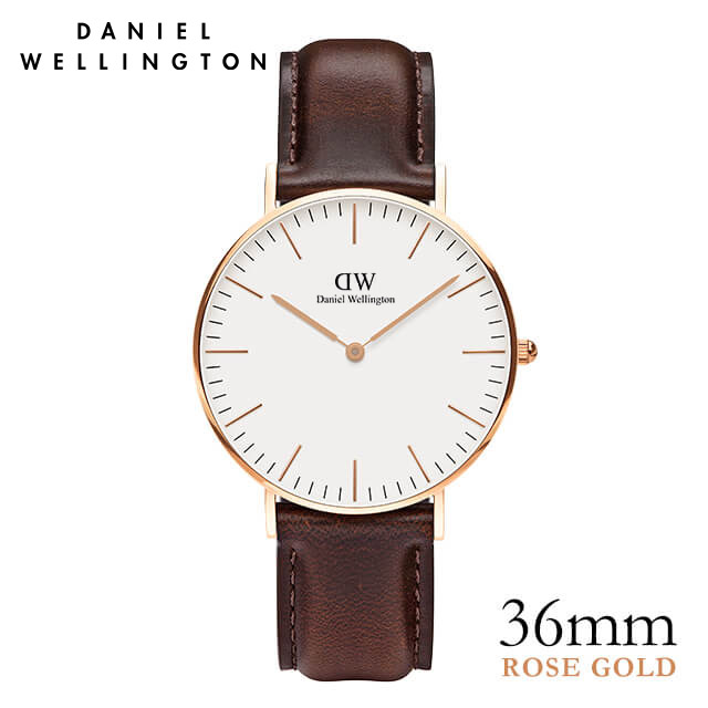ダニエルウェリントン 36mm Daniel Wellington ブリストル ローズ メンズ レディース 腕時計 ★ポイント10倍