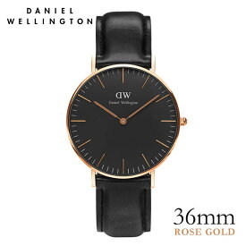 ダニエルウェリントン 36mm Daniel Wellington クラシックブラック シェフィールド ローズゴールド 腕時計
