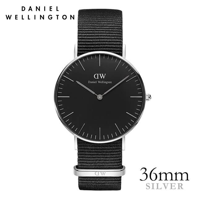 ダニエルウェリントン 36mm Daniel Wellington クラシックブラック コーンウォール シルバー 腕時計 ★ポイント10倍