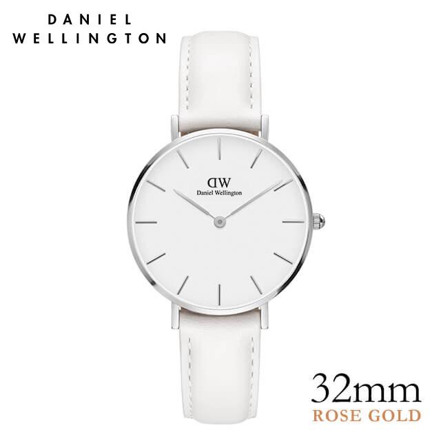 ダニエルウェリントン 32mm 白 Daniel Wellington クラシック ペティット ボンダイ シルバー 腕時計 レディース ★ポイント10倍