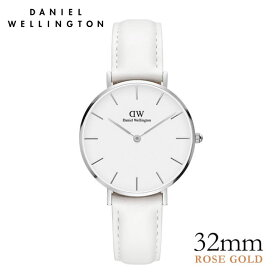 ダニエルウェリントン 32mm 白 Daniel Wellington クラシック ペティット ボンダイ シルバー 腕時計 レディース