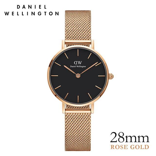 ダニエルウェリントン 28mm Daniel Wellington クラシックペティット ブラック メルローズ ローズゴールド ★ポイント10倍