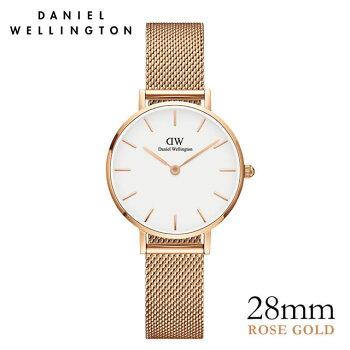 DanielWellington【ダニエルウェリントン】クラシックペティットホワイトメルローズ/ローズゴールド28mm