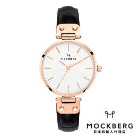 モックバーグ MOCKBERG 日本総輸入代理店公式ショップ 時計 腕時計 レディース ウォッチ Original 34 - Black Croco, Rose Gold ギフト