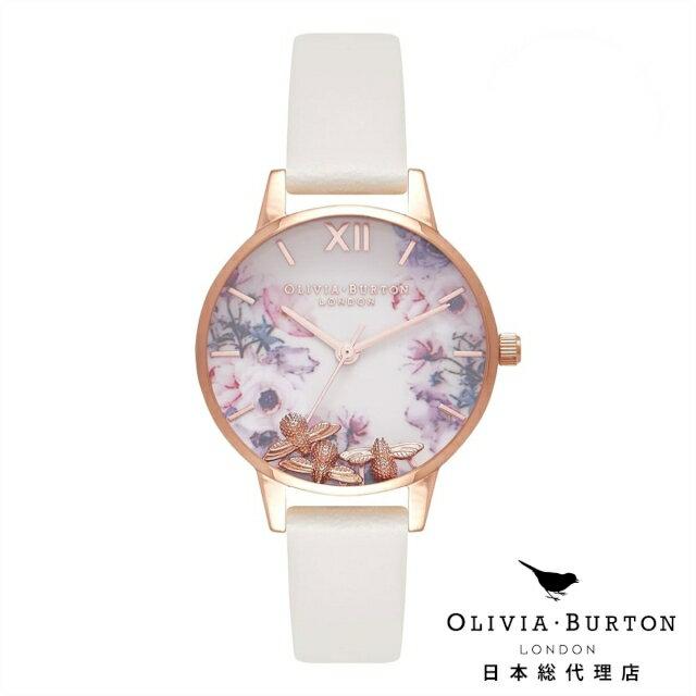 オリビアバートン 腕時計 日本正規総代理店 Olivia Burton ビジービー ヌード & ローズゴールド 花柄 フラワー オリビアバートン 日本正規総代理店 記念日 ギフト プレゼント 新生活 贈り物 時計