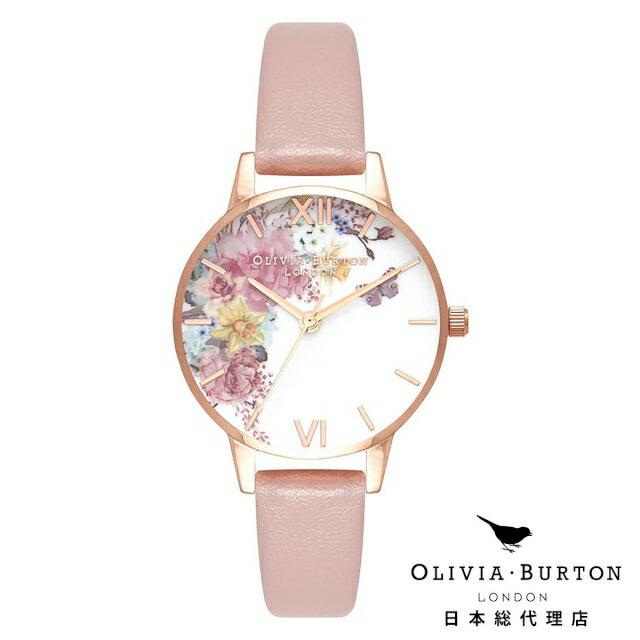 オリビアバートン レディース 腕時計 Olivia Burton エンチャントガーデン ビーガンローズサンド & ローズゴールド 新作